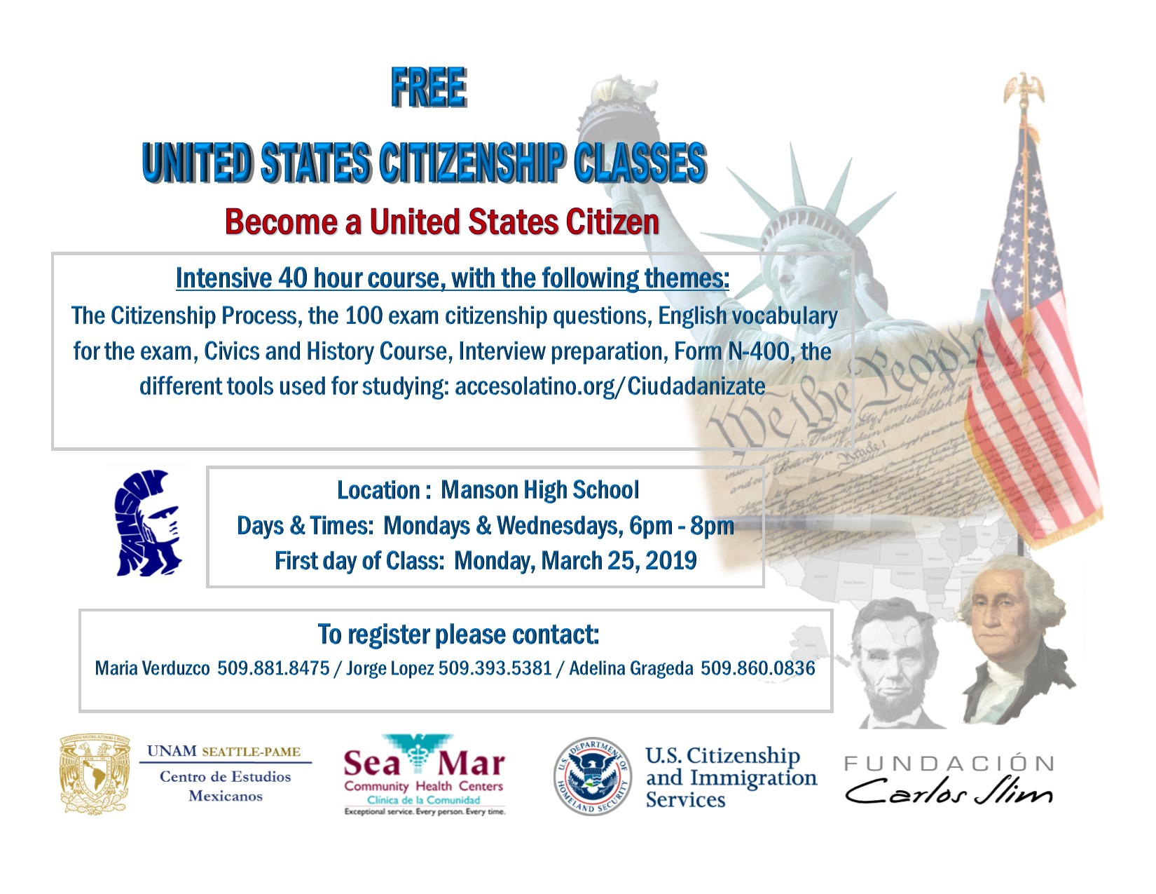 Citizenship Classes English 2019